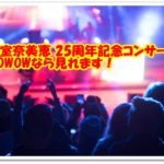 安室奈美恵 沖縄 25周年ライブ 配信 動画 放送 見たい WOWOW あむろなみえ