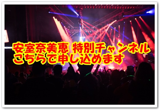 NAMIE AMURO CHANNEL(安室奈美恵チャンネル)あむろちゃん 25周年 hulu フールー 特別チャンネル 申込